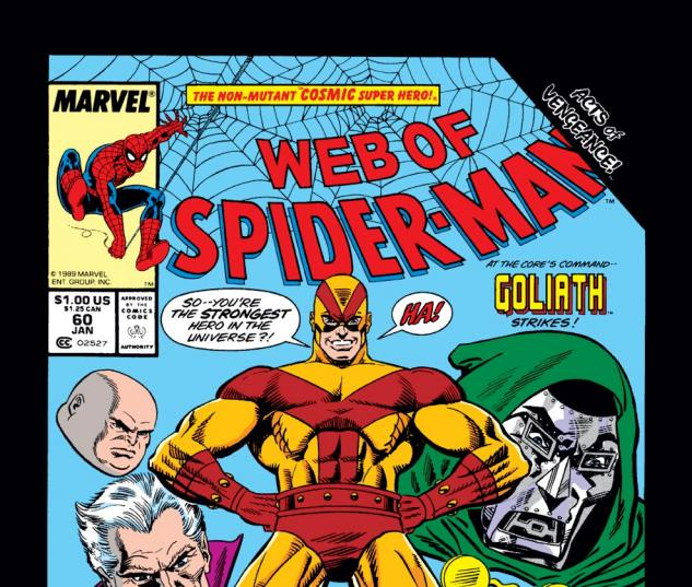 Web of Spider-Man (1985) #60 Cover