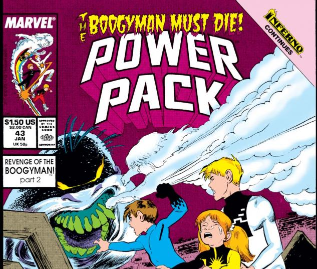 Power Pack (1984) #43 Cover