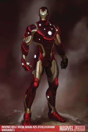 Invincible Iron Man #25  (FOILOGRAM VARIANT)