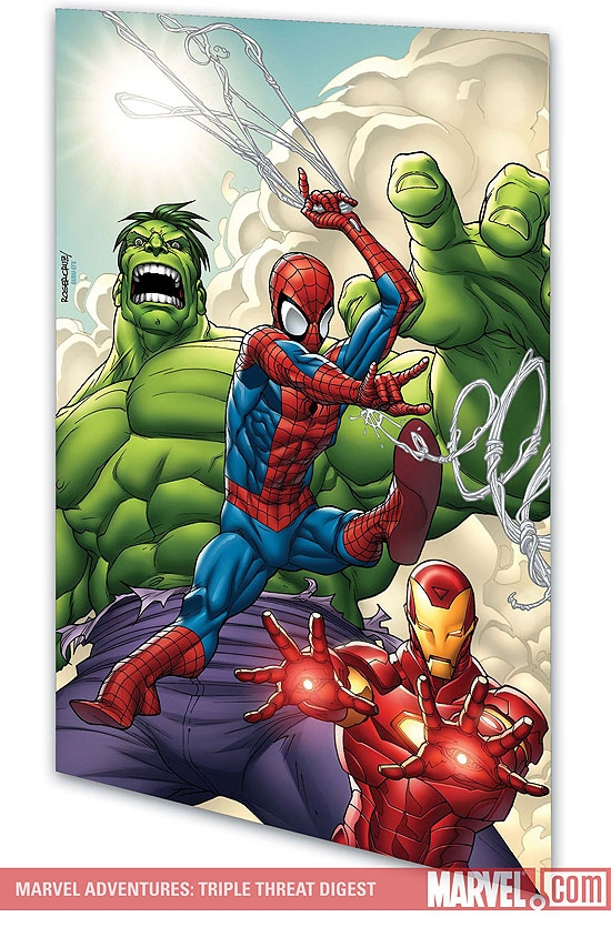 MARVEL ADVENTURES SPIDER-MAN, HULK & IRON MAN: TRIPLE THREAT DIGEST (Digest)