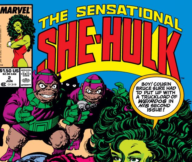 Cover for SENSATIONAL SHE-HULK #2