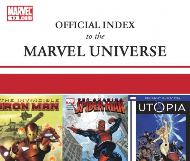 Official Index to the Marvel Universe (2009) #13