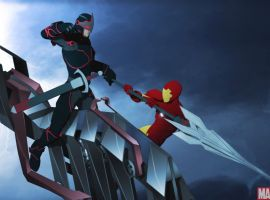 Iron Man does battle with the Black Knight