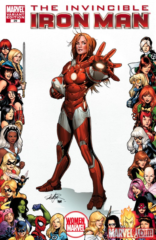 Invincible Iron Man (2008) #29 (WOMEN OF MARVEL VARIANT)