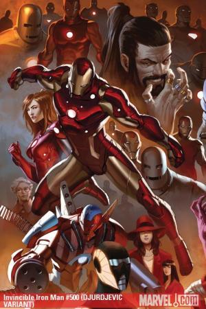 Invincible Iron Man (2008) #500 (DJURDJEVIC VARIANT)