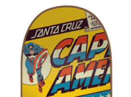 Santa Cruz Captain America skateboard art