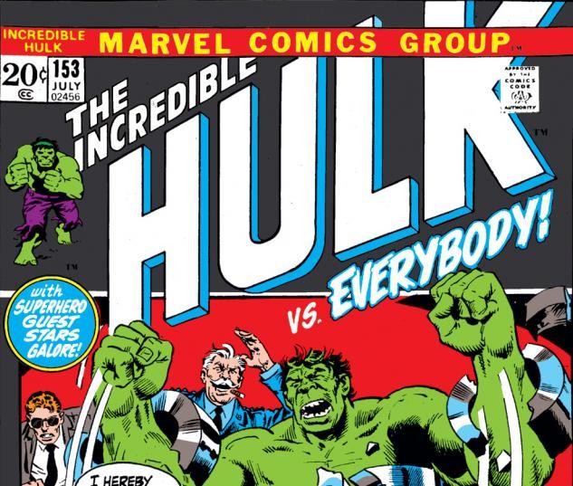 Incredible Hulk (1962) #153 Cover