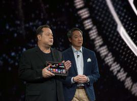 Marvel Chief Creative Officer Joe Quesada & Senior Vice President Samsung Electronics America Michael Abary