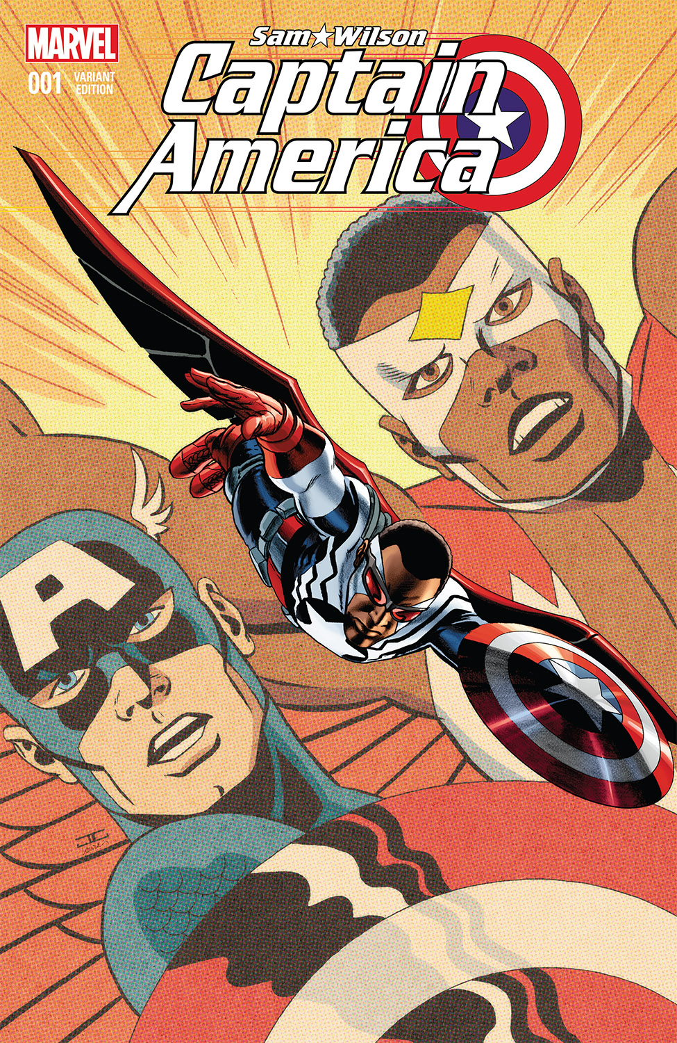 1ST PRINTING STORY THUS FAR VARIANT COVER 2016 CAPTAIN AMERICA SAM WILSON #14