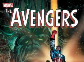 Image Featuring Captain America, Iron Man, Skrulls, Thor, Vision, Supreme Intelligence