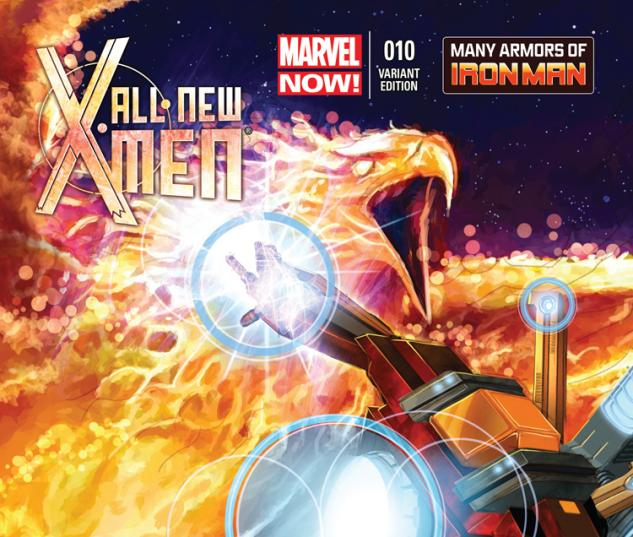 ALL-NEW X-MEN 10 HORN IRON MAN MANY ARMORS VARIANT