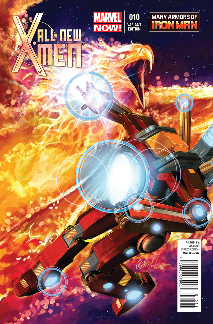 All-New X-Men (2012) #10 (Horn Iron Man Many Armors Variant)