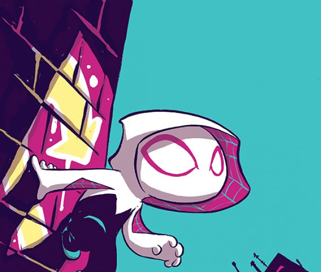 Spider-Gwen #1 variant cover by Skottie Young