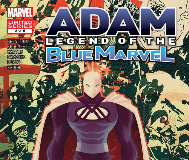 Adam Legend of the Blue Marvel #3 Cover