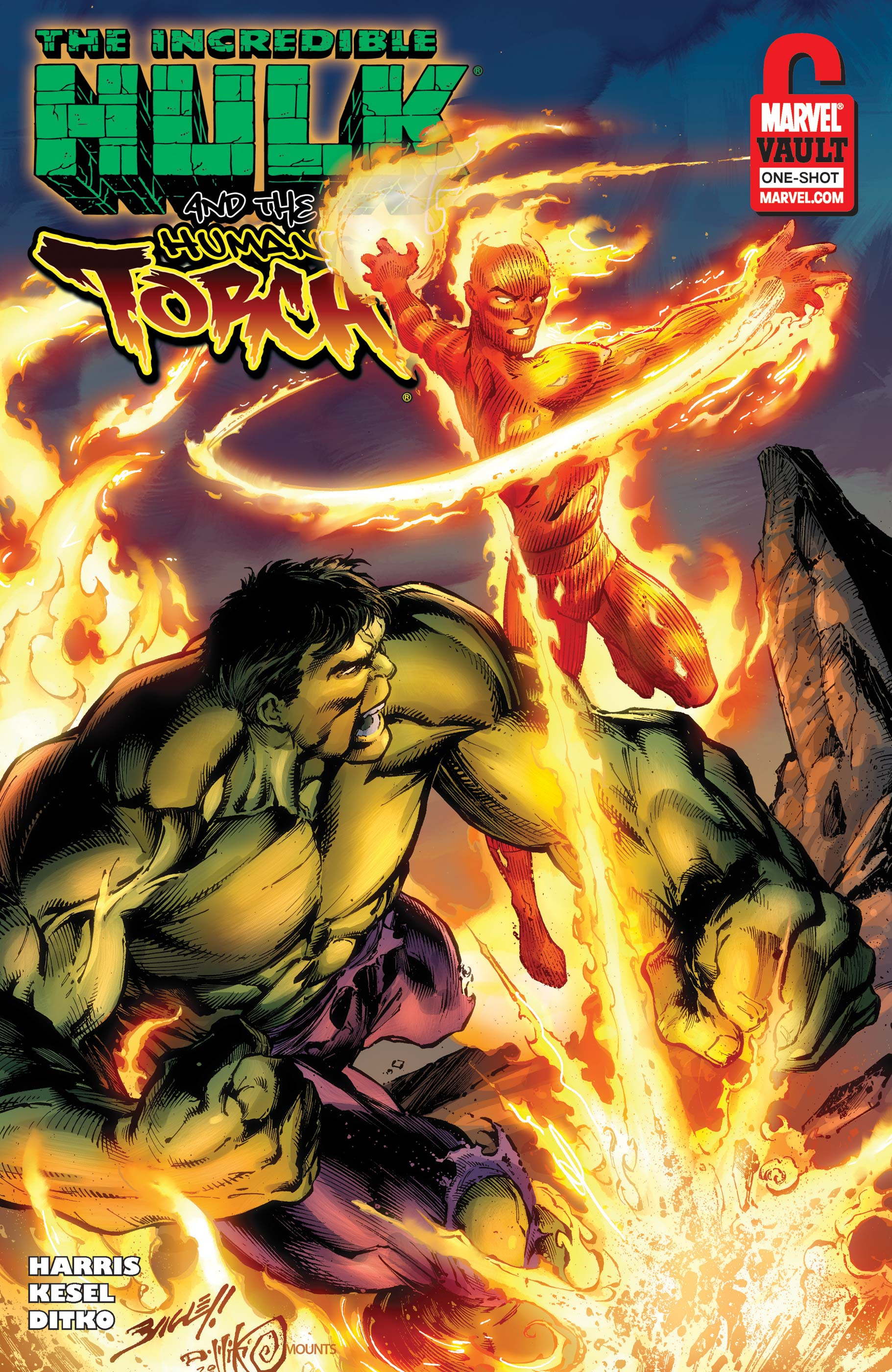 Human Torch & Hulk: From the Marvel Vault (2011) #1