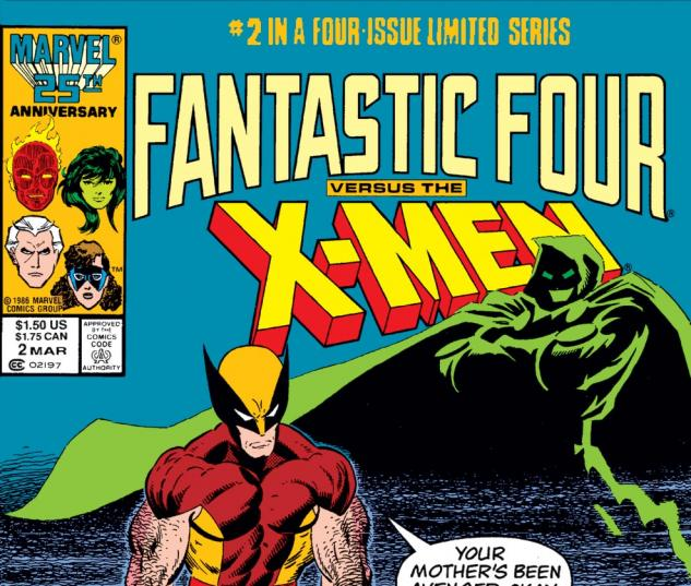 Fantastic Four vs. the X-Men (1987) #2 Cover