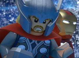 Thor and Iron Man ready for action in LEGO Marvel Super Heroes: Maximum Overload