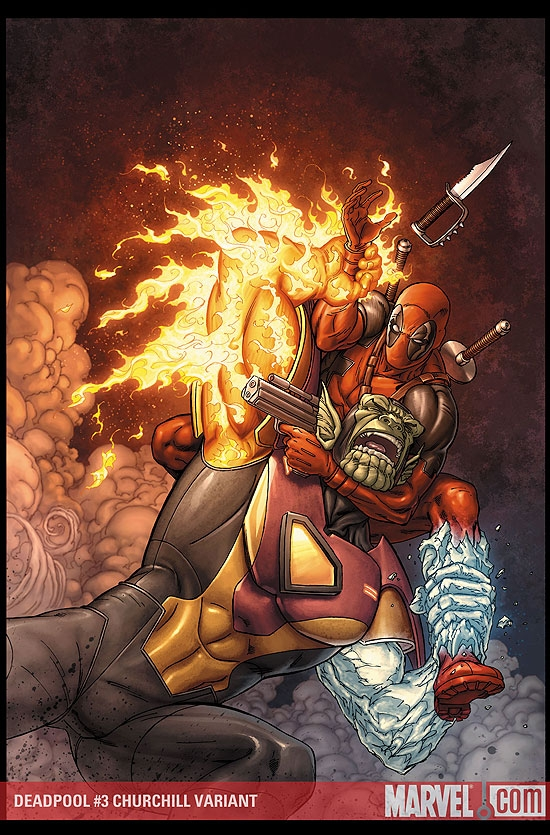 Deadpool (2008) #3 (CHURCHILL VARIANT)