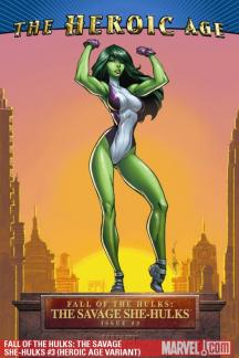 Fall of the Hulks: The Savage She-Hulks (2010) #3 (HEROIC AGE VARIANT)
