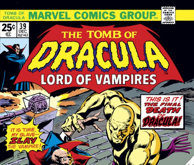 Tomb of Dracula (1972) #39 Cover