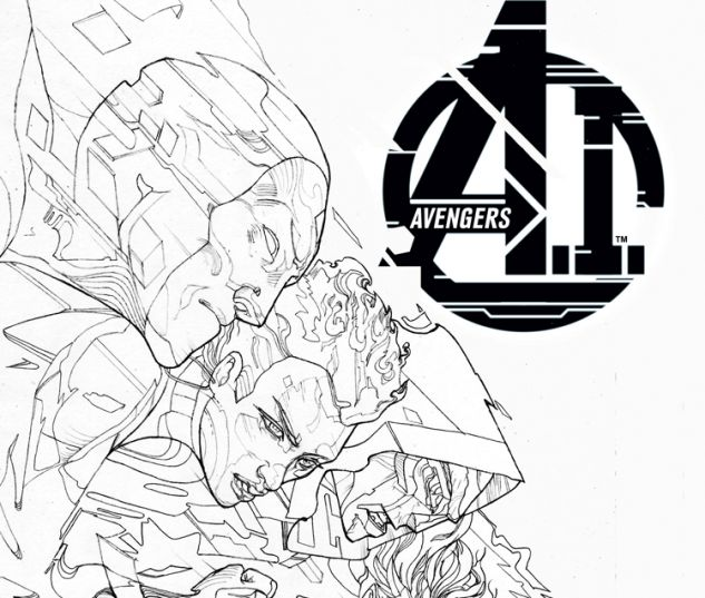 AVENGERS A.I. 8.NOW WARD BLACK AND WHITE VARIANT (ANMN, 1 FOR 50)
