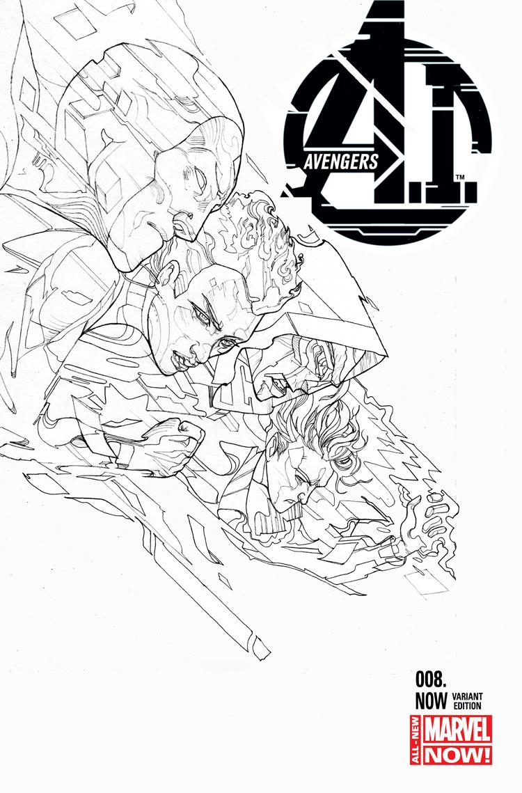 Avengers A.I. (2013) #8 (Ward Black and White Variant)
