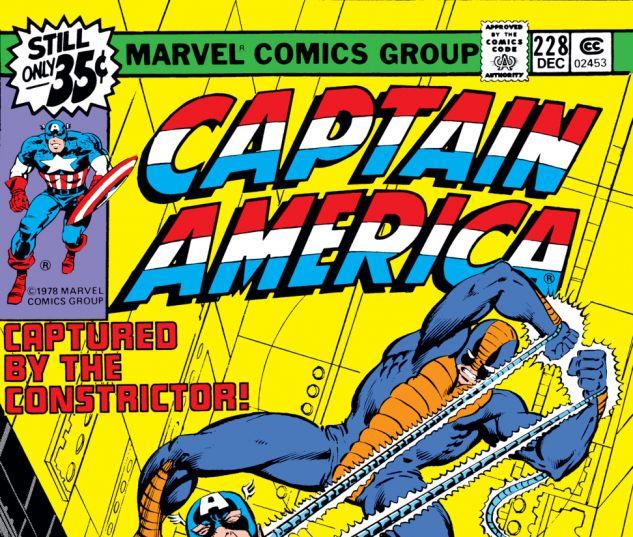 Captain America (1968) #228 Cover