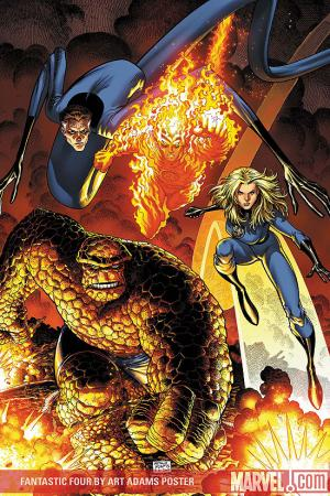 Fantastic Four by Art Adams Poster (2008)