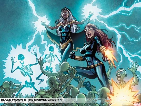 Black Widow & the Marvel Girls (2009) #4 Wallpaper