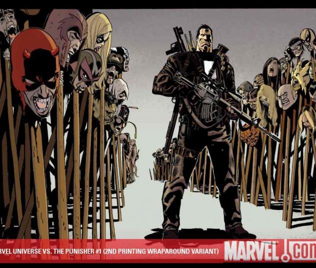Marvel Universe Vs. the Punisher (2010) #1 (2ND PRINTING WRAPAROUND VARIANT)