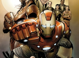 Invincible Iron Man #500.1 cover by Salvador Larroca