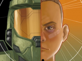 Halo: Fall of Reach - Boot Camp cover art by Phil Noto