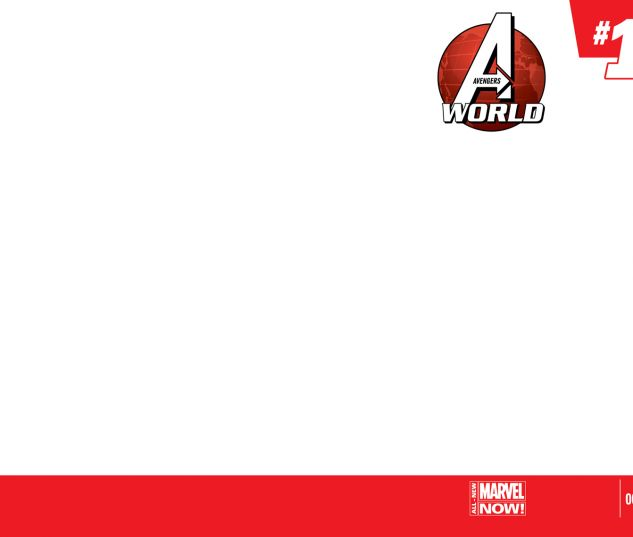 AVENGERS WORLD 1 BLANK COVER VARIANT (ANMN, WITH DIGITAL CODE, INTERIORS ONLY)