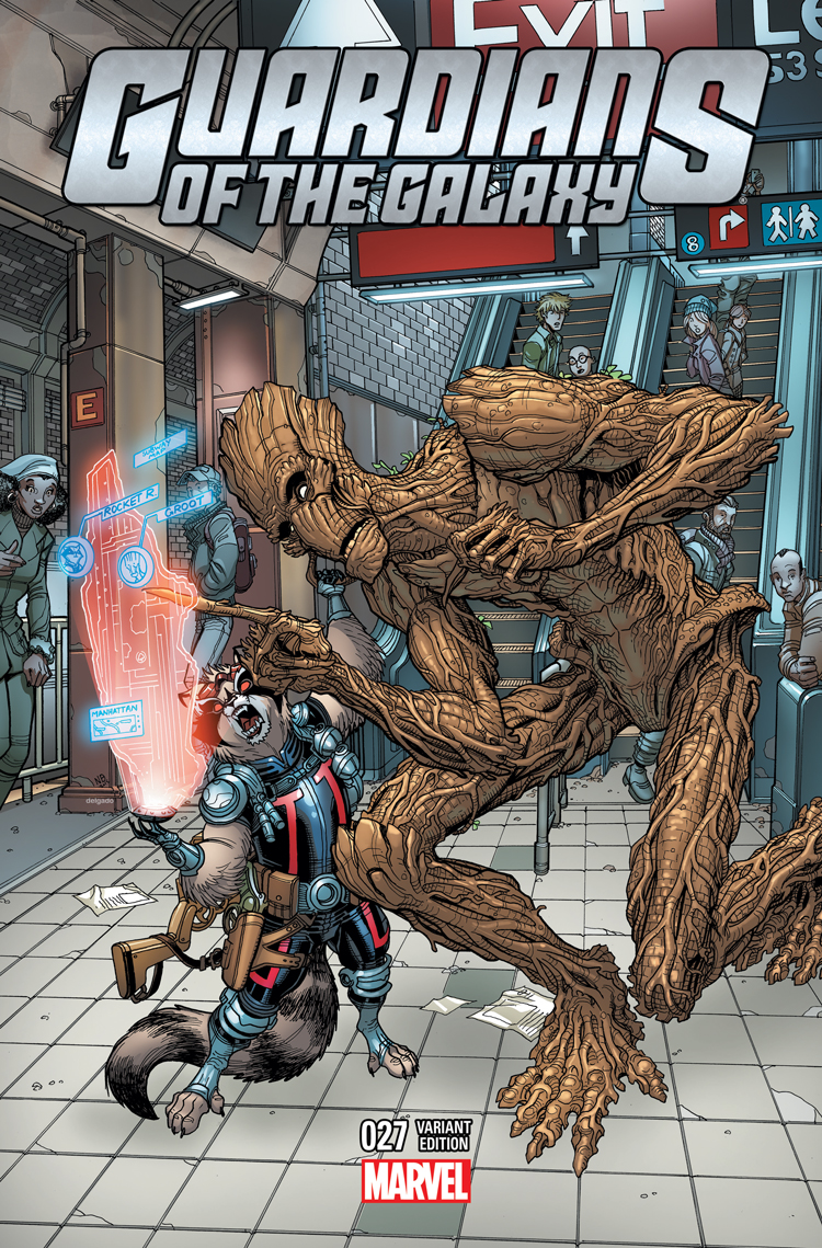 Guardians of the Galaxy (2013) #27 (Bradshaw Nyc Variant)