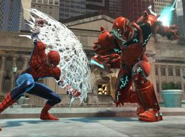 Spidey takes on an armored adversary
