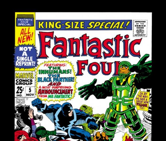 FANTASTIC FOUR ANNUAL #5 COVER