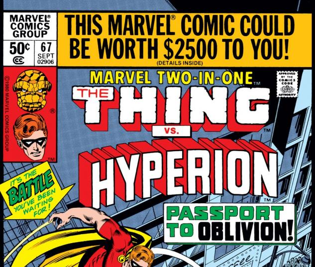 Marvel Two-in-One (1974) #67 Cover