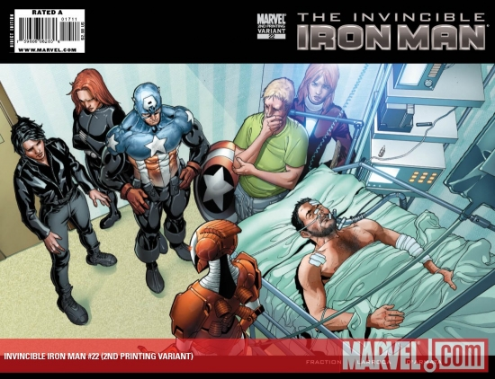 Invincible Iron Man (2008) #22 (2ND PRINTING VARIANT)