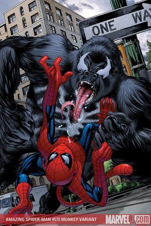 Amazing Spider-Man (1999) #570 (MONKEY VARIANT (1 FOR 10))