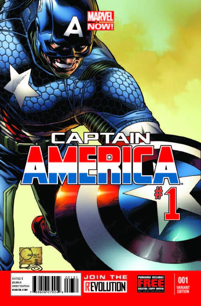 Captain America (2012) #1 (Quesada Variant)