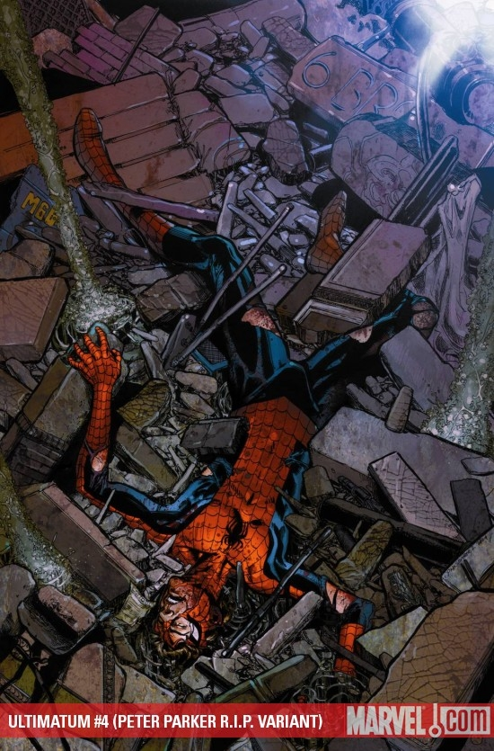Ultimatum (2008) #4 (PETER PARKER R.I.P. VARIANT)