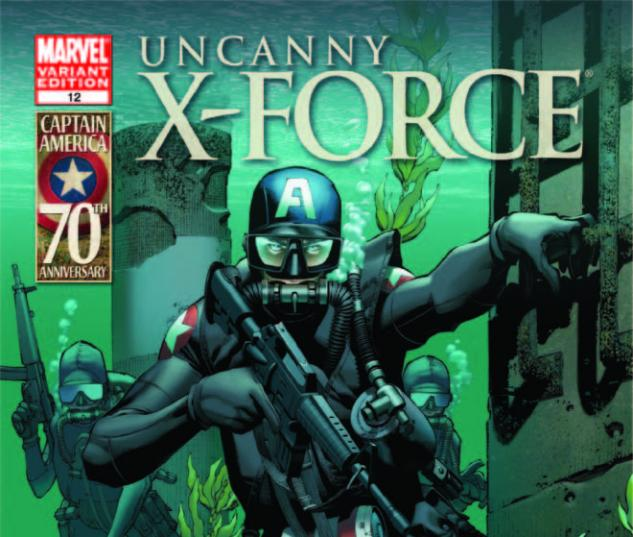 UNCANNY X-FORCE 12 I AM CAPTAIN AMERICA VARIANT (1 FOR 20)