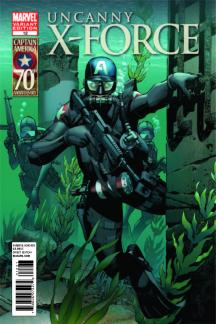Uncanny X-Force (2010) #12 (I Am Captain America Variant)