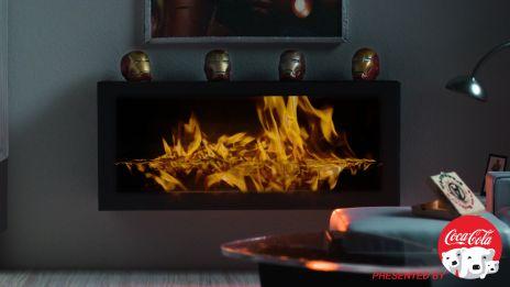 Marvel Fireside Video - Iron Man -CloseUp