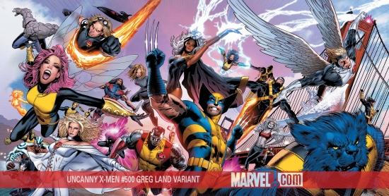 Uncanny X-Men (1963) #500 (LAND WRAPAROUND (50/50 COVER))