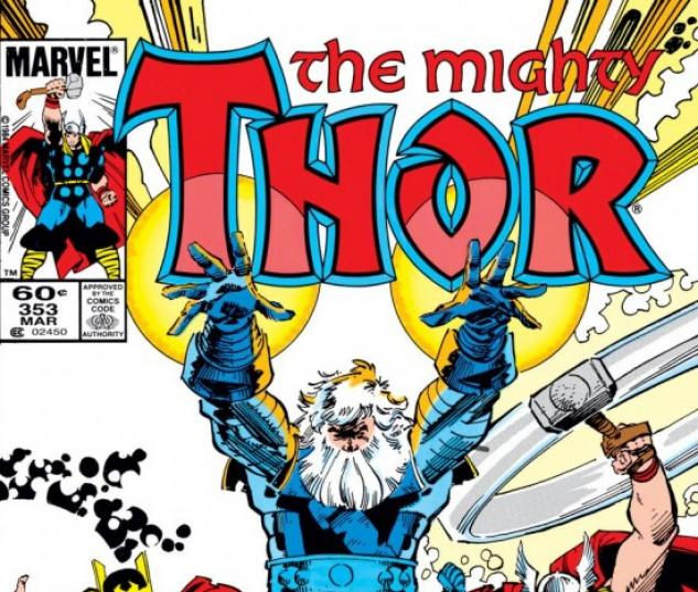Thor #353 cover by Walt Simonson