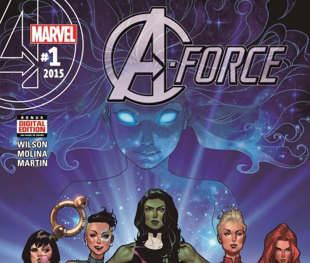 A-Force #1 cover art by Jorge Molina