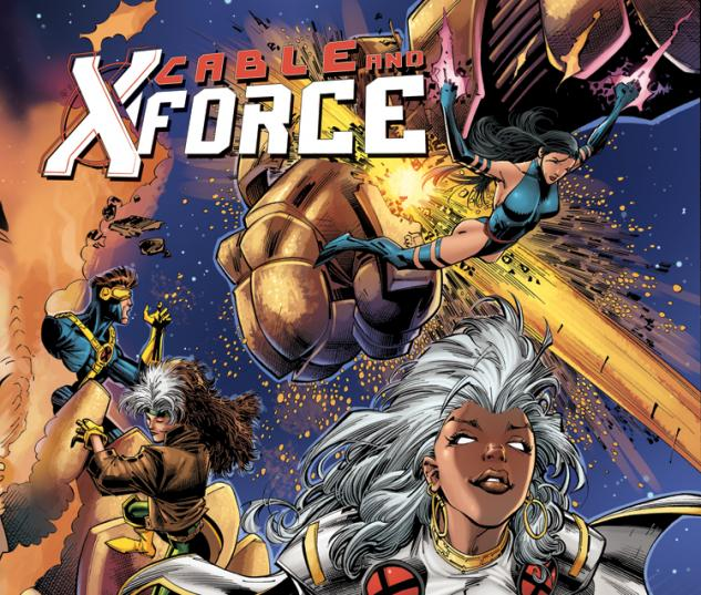 CABLE AND X-FORCE 8 X-MEN 50TH ANNIVERSARY VARIANT (NOW, WITH DIGITAL CODE)