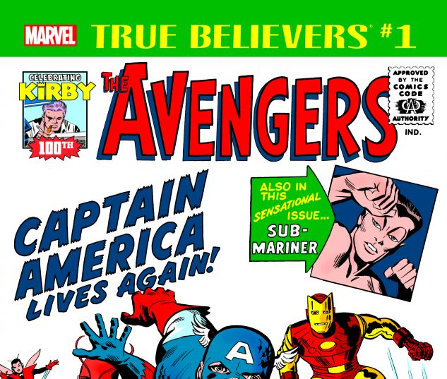 cover from True Believers: Kirby 100th - Avengers: Captain America Lives Again! (2017) #1