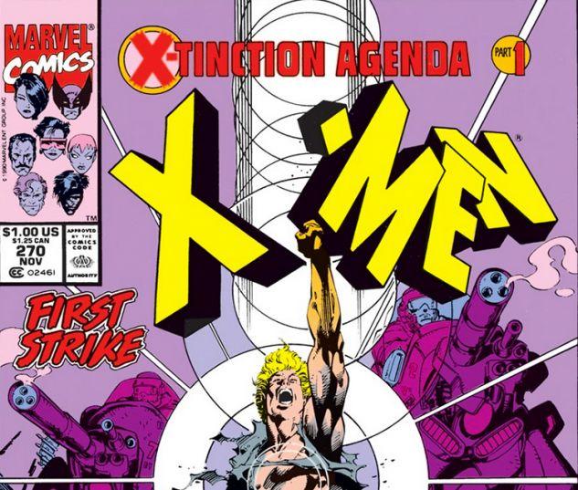 X-Tinction Agenda Uncanny X-Men #270 Marvel Comics Jim Lee 9.2 Near Mint